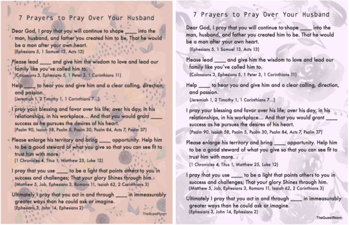 7 Prayers to Pray Over Your Husband