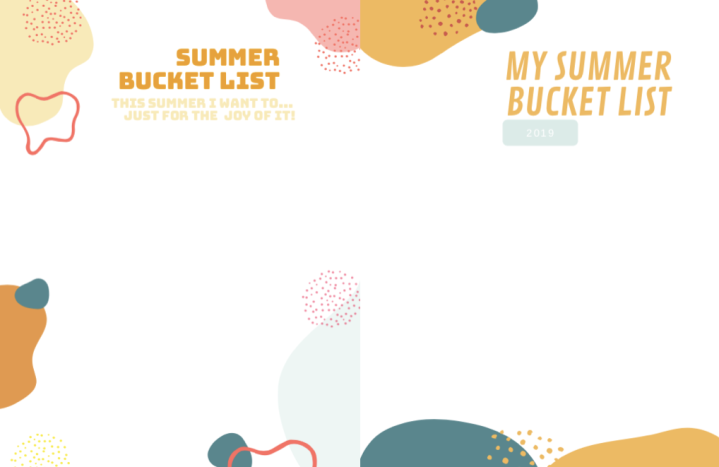 2019 summer bucket lists