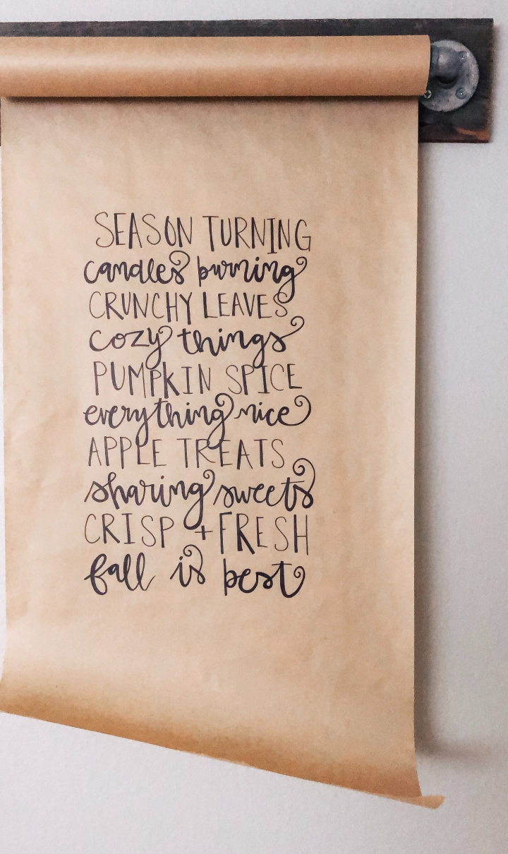 Fall quote, paper scroll DIY